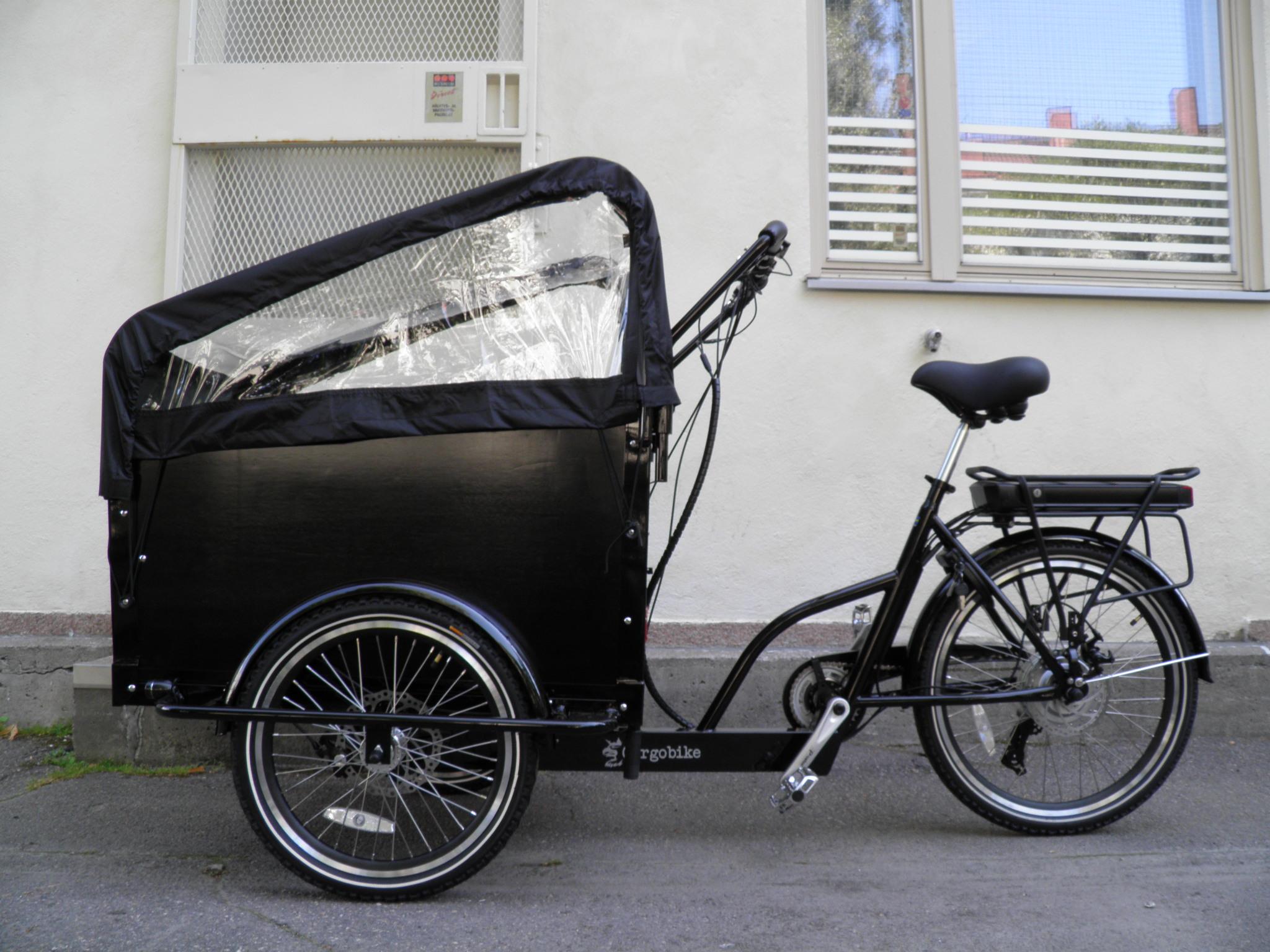 Cargobike Classic Electric tavarapyörä 250W Bafang 8FUN Shimano 6-v